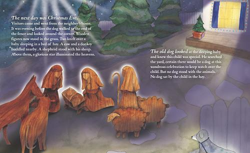 Lighthearted Press Book pages from Old Dog and the Christmas Wish